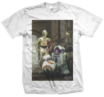 Three Droids Star Wars The Force Awakens Official Star Wars Unisex T-Shirt