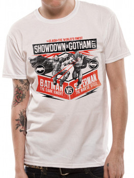 Batman v Superman Showdown in Gotham City Dawn of Justice Official Unisex T-Shirt
