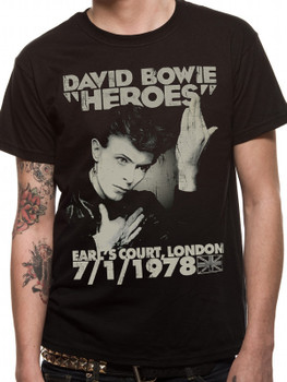 David Bowie Heroes Earls Court Official Unisex T-Shirt