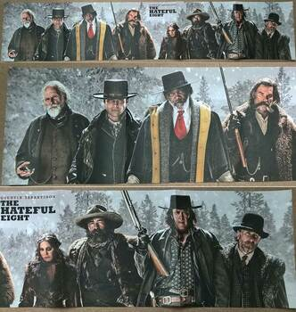 "The Hateful Eight Original Movie Poster Single Sided - Ultra Rare 60"" Width Panoramic Promo Poster"