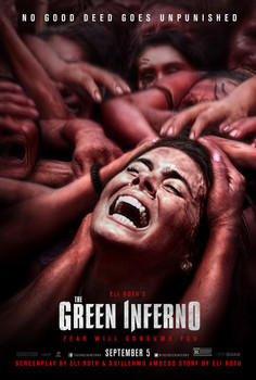 The Green Inferno Original Movie Poster Double Sided - Rare Withdrawn September 5th (2014) Style