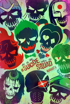 Suicide Squad Original Movie Poster Double Sided Advance - Skulls Image Style A
