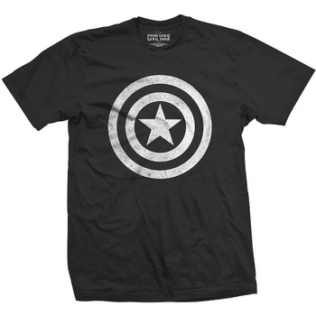 Captain America: Civil War  Distressed Shield Marvel Official Unisex T-Shirt