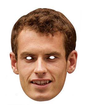 Andy Murray Celebrity Card Party Face Mask