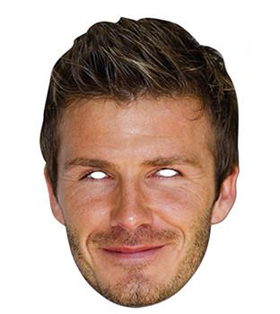 David Beckham Celebrity Card Party Face Mask