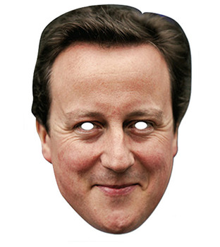 David Cameron Prime Minister Card Party Face Mask