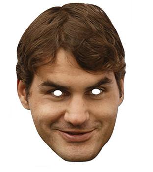 Roger Federer Celebrity Card Party Face Mask