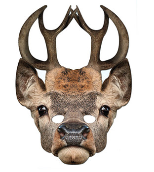 Stag Animal Card Party Face Mask
