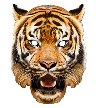 Tiger Animal Card Party Face Mask