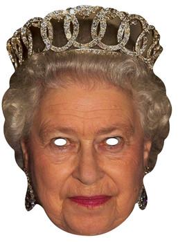 Queen Elizabeth II Royal Single Card Party Face Mask