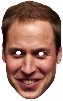 Prince William Duke of Cambridge Royal Single Card Party Face Mask