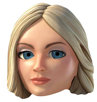 Lady Penelope Thunderbirds Are Go Single Card Party Face Mask