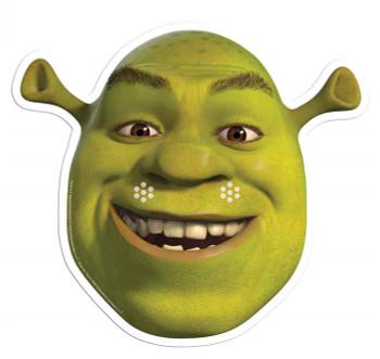 Shrek Single Card Party Face Mask
