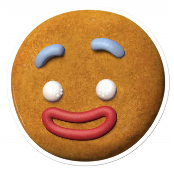 Gingy The Gingerbread Man from Shrek Single Card Party Face Mask