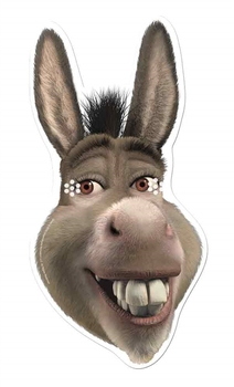 Donkey from Shrek Single Card Party Face Mask