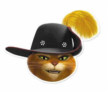 Puss in Boots from Shrek Single Card Party Face Mask