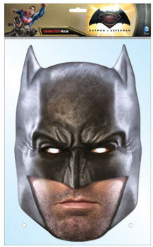 Batman Dawn of Justice Ben Affleck Single Card Party Face Mask
