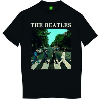The Beatles Abbey Road Logo Black Official Unisex T Shirt