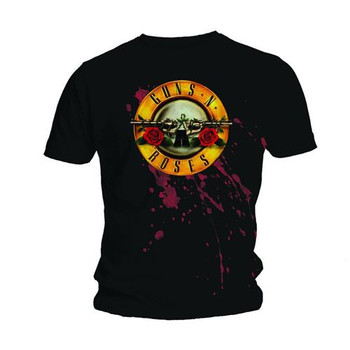 Guns N' Roses Bullet Logo Black Official Unisex T Shirt