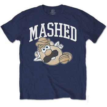 Mr Potato Head Mashed Logo Navy Official Unisex T Shirt