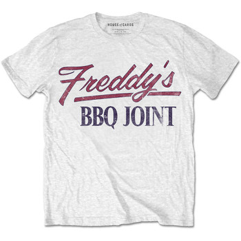 House of Cards Freddy's BBQ Joint White Official Unisex T-Shirt