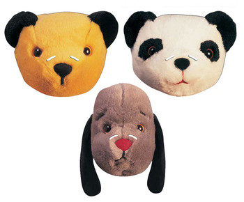 The Sooty Show Official 2D Card Party Face Masks Variety 3 Pack