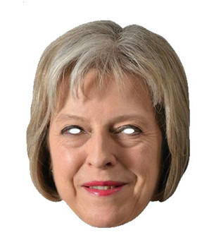 Theresa May British Prime Minister 2D Card Party Face Mask