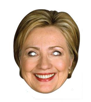 Hillary Clinton American Politician 2D Card Party Face Mask