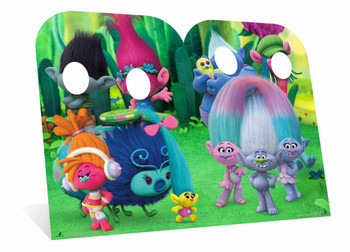 Trolls Can't Stop The Feeling  Child Size Cardboard Cutout Twin Pack