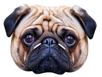Pug Dog Animal Single Card Party Face Mask