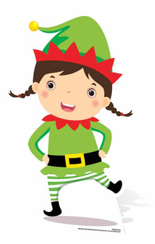Mini Christmas Elf Cardboard Cutout / Standee / Stand Up