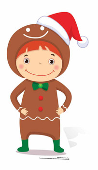 Mini Gingerbread Boy Cardboard Cutout / Standee / Stand Up