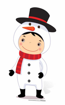 Mini Snowman Cardboard Cutout / Standee / Stand Up