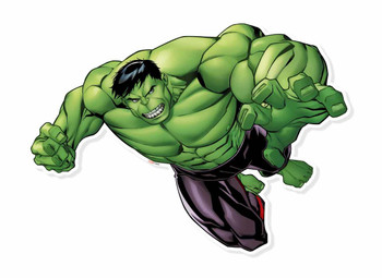 Hulk Smash Wall Art 3D Effect Official Marvel Cardboard Cutout Wall Art