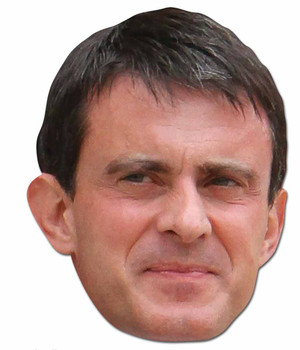 Manuel Valls French Politician 2D Card Party Face Mask