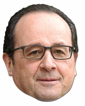 Francois Hollande French Politician 2D Card Party Face Mask