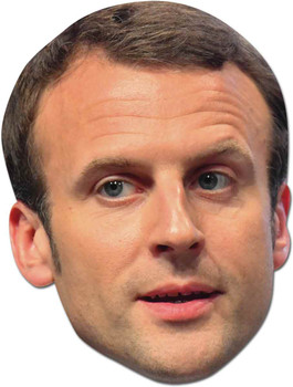 Emmanuel Macron French Politician 2D Card Party Face Mask