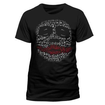 Batman Dark Knight The Joker Ha Ha Face Official Unisex Black T-Shirt