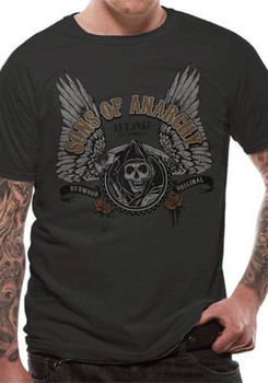 Sons Of Anarchy Winged Logo Official Unisex Grey Shirt