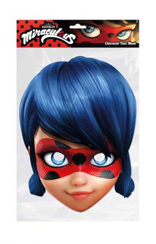 Ladybug from Miraculous Single 2D Card Party Face Mask