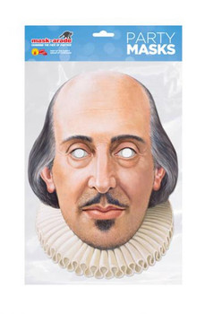 William Shakespeare Single 2D Card Party Face Mask