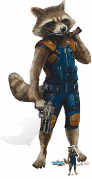 Rocket Raccoon Guardians of The Galaxy Vol. 2 Cardboard Cutout