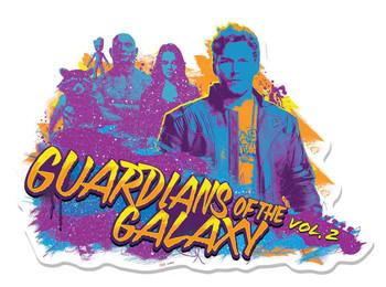 Guardians of The Galaxy Vol. 2 Graffiti Guitar 3D Effect Cardboard Cutout Wall Art