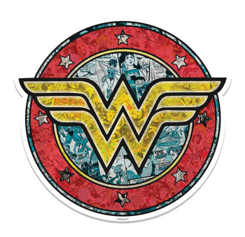 Wonder Woman Shield Logo 3D Effect Cardboard Cutout Wall Art
