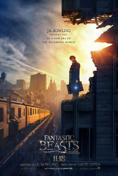 Fantastic Beasts and Where To Find Them Original Movie Poster Newt Scamander - Advance Style