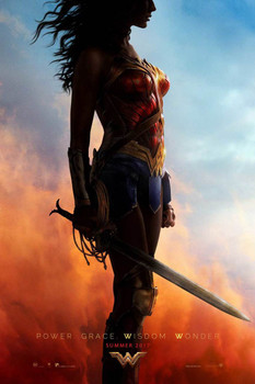 Wonder Woman Original Movie Poster – Power Grace Wisdom Wonder Style A