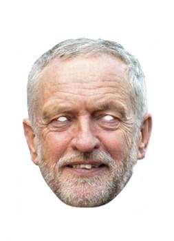 Jeremy Corbyn Single 2D Card Party Face Mask