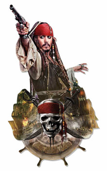Jack Sparrow Pirates of the Caribbean Wall Mounted Cardboard Cutout