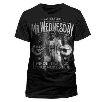 American Gods Mr. Wednesday Official Black Unisex T-Shirt