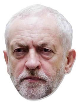Jeremy Corbyn 2D Card Party Face Mask